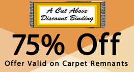 75% Off, Offer Valid on Carpet Remnants